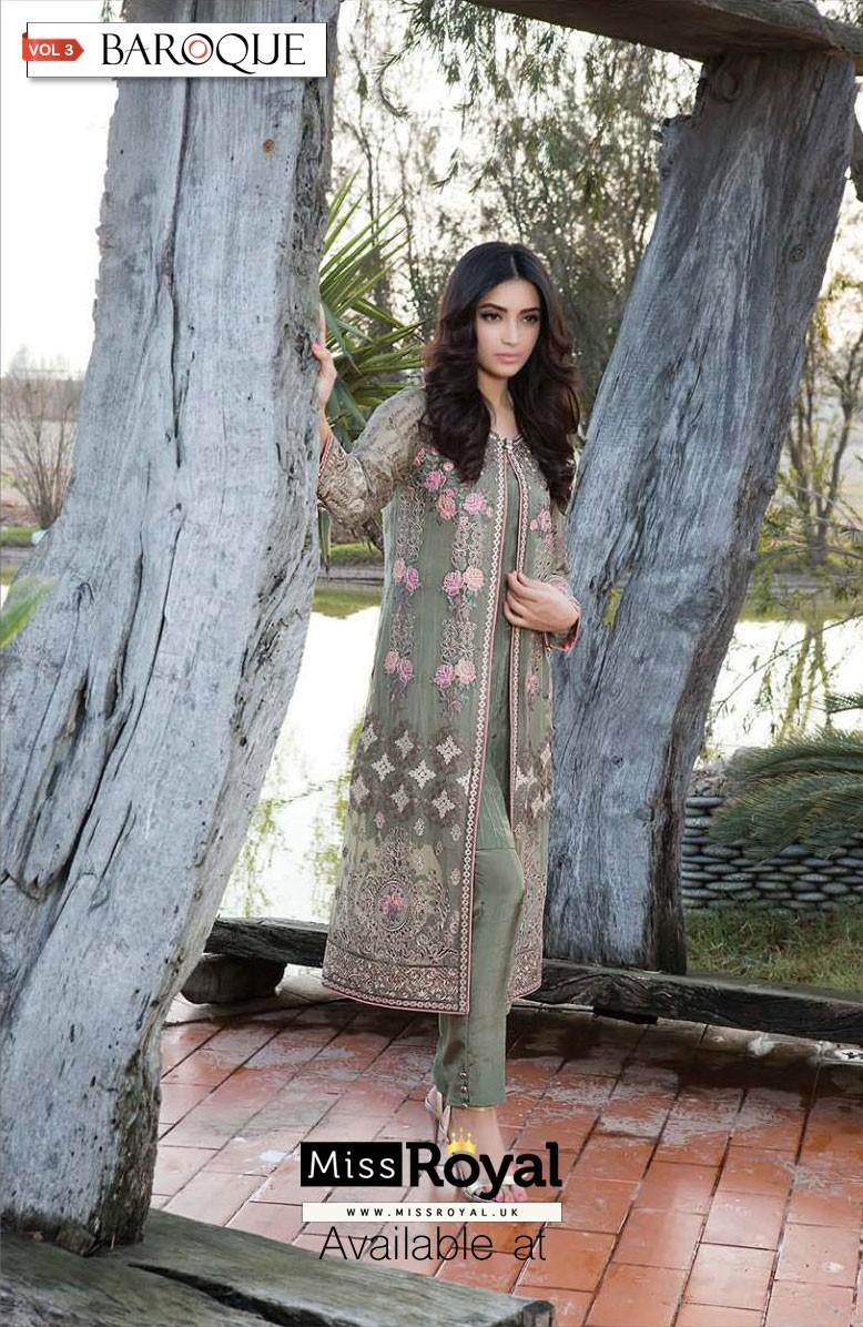 Baroque Captivating Splendor Luxury Chiffon Dress vol3 - 05a