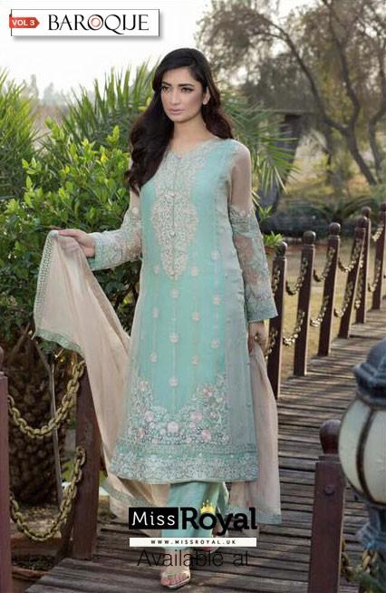 Baroque Mystical Dream Luxury Chiffon Dress vol3 - 08a