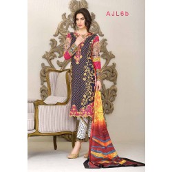 Asim Jofa - Print and Embroidery BLUE - AJL6B