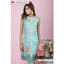 Baroque Aqua Delight Lawn Dress Collection1 - Design5a