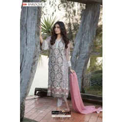 Baroque Ecstatic Grey Luxury Chiffon Dress vol3 - 10a