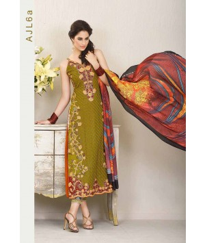 Asim Jofa - Print and Embroidery Green - AJL6A