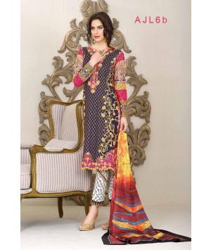 Asim Jofa - Print and Embroidery BLUE - AJL6B
