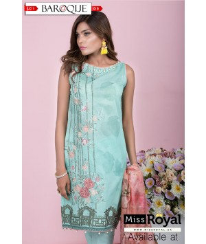 Baroque Aqua Delight Lawn Dress Collection1 - Design5a
