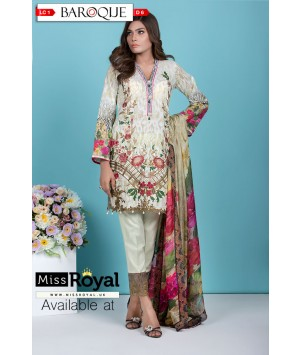 Baroque Paradise Blossom Lawn Dress Collection1 - Design6a