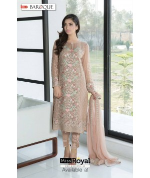 Baroque Ethereal Pastel Luxury Chiffon Dress vol3 - 09a